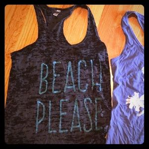 Tops - Beach please 'burnout' tank